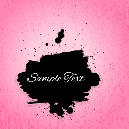 Artictis painted background. Pink and black colors Vector