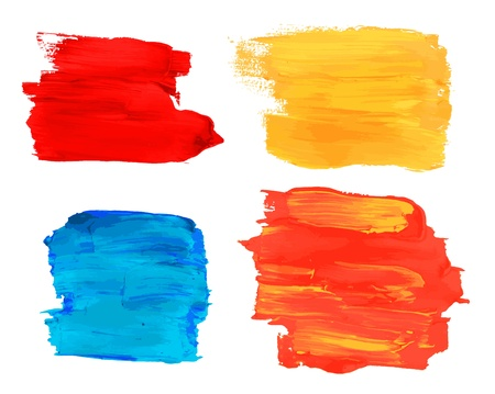 Collection of artistic paint banners Vector