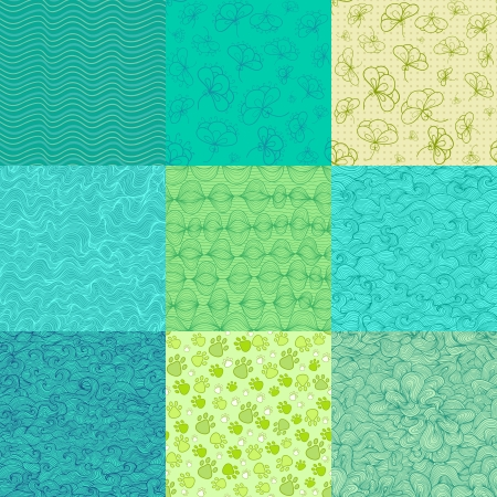 Abstract seamless pattern collection Vector