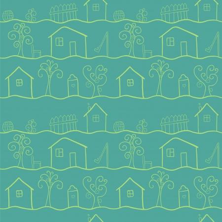 datcha: Maisons de campagne stylis�, seamless