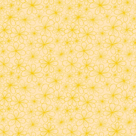 tints: Abstract flowers seamless pattern in yellow and creamy tints.