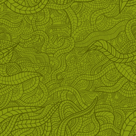 Floral seamless pattern with green stylized leaves Illustration