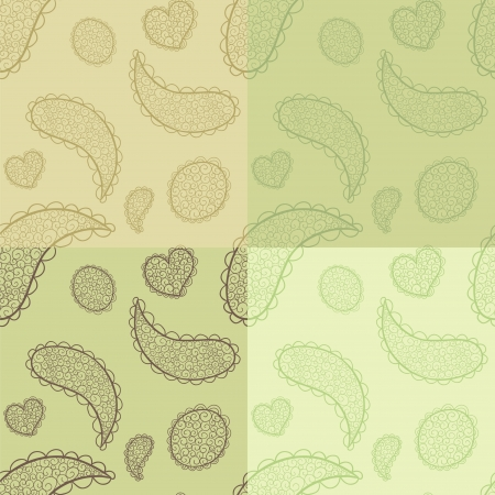 tints: Collection of hand drawn seamless patterns. Nice vintage tints. Illustration