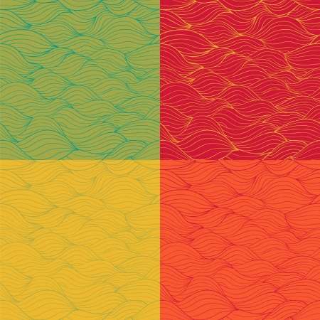 Abstract seamless pattern set Stock Vector - 20697756