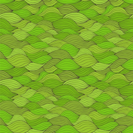 Abstract seamless pattern with horizontal fibre  Green tints Vector