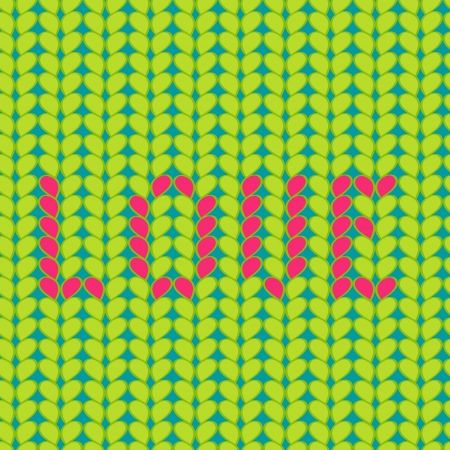 Knitted Love seamless pattern Illustration