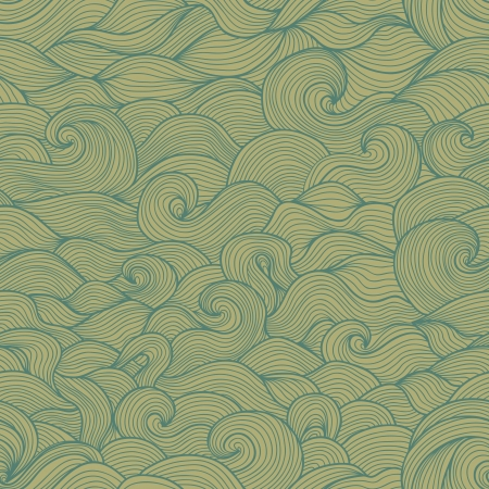Doodle waves seamless pattern  Vintage tints  Stock Vector - 20698166