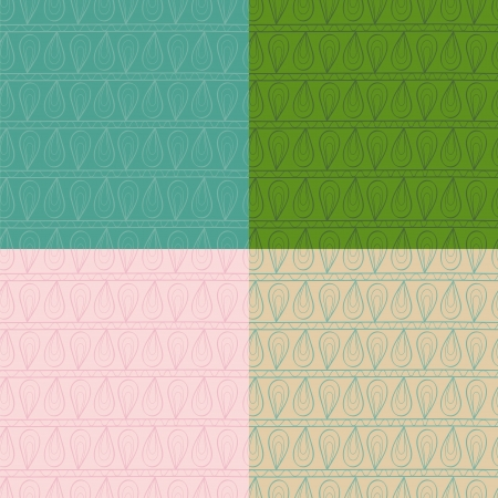 tints: Set of ethnic ornament abstract seamless patterns. Retro tints.