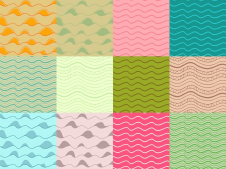 seamless pattern collection. Abstract shapes and waves.