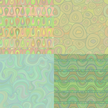 Set of mosaic seamless patterns Vector