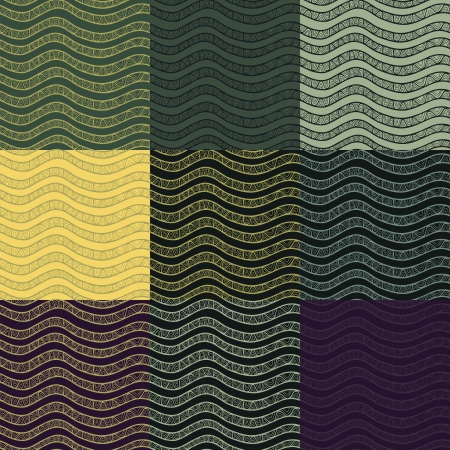 Set of abstract seamless patterns. Vector