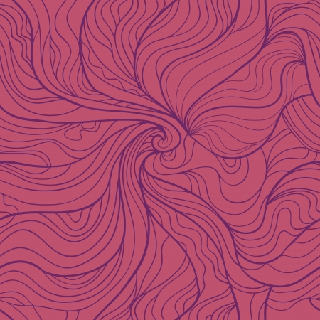 curl whirlpool: Abstract wavy seamless pattern in elegant purple colors Illustration