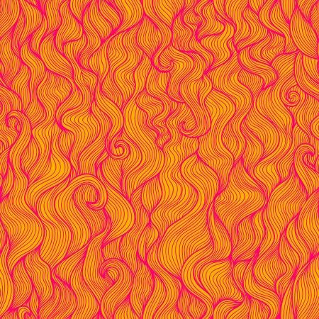 Wavy abstract vertical seamless pattern in pink and orange colors Stock Photo - 20698402