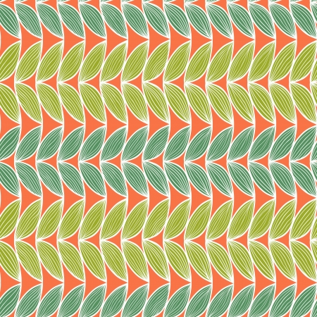 Horizontal abstract seamless pattern in retro tints.