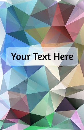 Polygon design stylized vector abstract background
