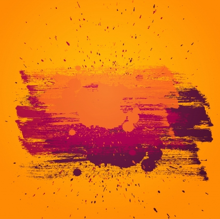 artictic: Colorful vector background with artictic paint strokes. Yellow, orange and purple colors