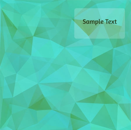 tints: Polygon design stylized vector abstract background. Aqua green tints.