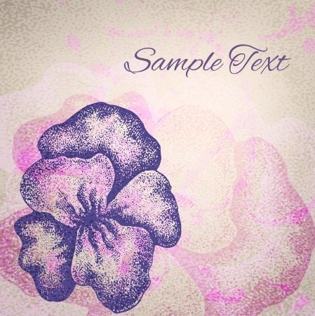 Vintage vector illustration of iris. Vector