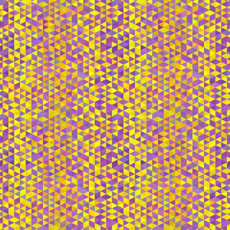 Abstract seamless pattern. Yellow, orange and violet triangles Stock Vector - 22142753