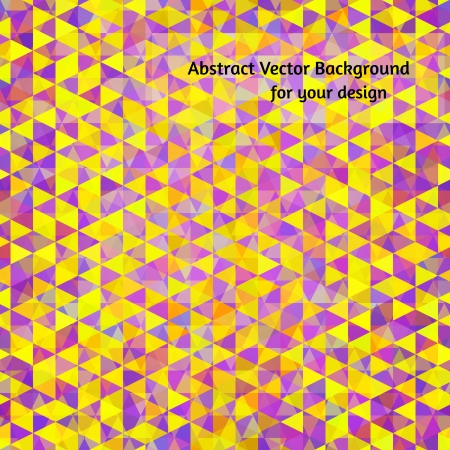 Abstract vector background for your design. Yellow and violet varied triangles in random order. Stock Vector - 22142774