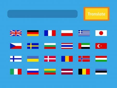 interface of mobile translator application.