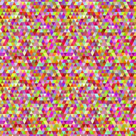Colorful random triangles abstract vector seamless pattern Vector