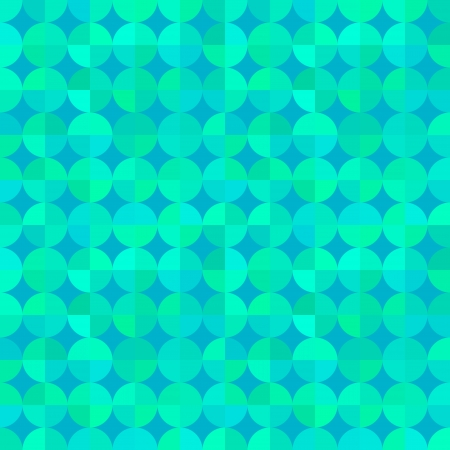 varied: Abstract vector seamless pattern. Stylized segmented circles of varied colors. Flat design