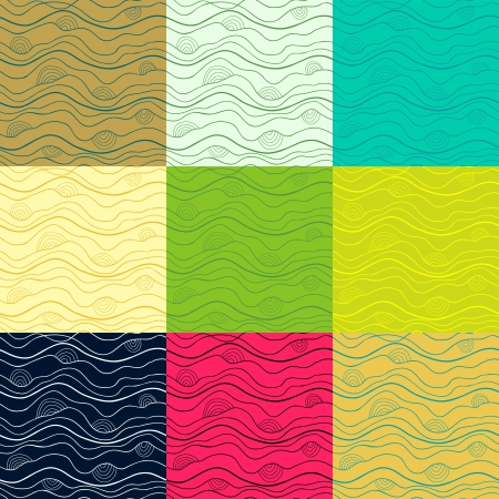 Big set of abstract doodle seamless patterns Vector