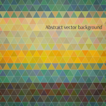 Abstract vector background. Colorful triangles in random stripy order, polygon style illustration for your design. Nice vintage apperance. Stock Vector - 22199452