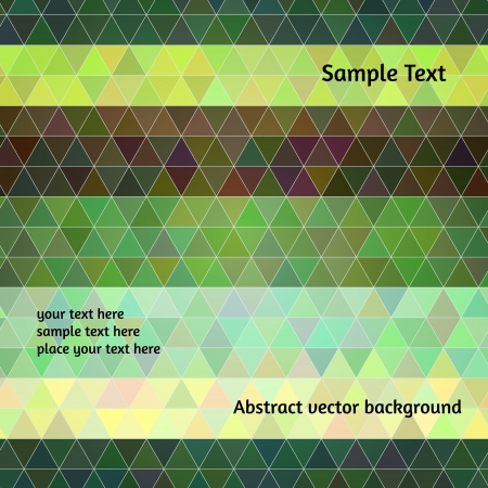Abstract vector background. Stylized triangle flat design Stock Vector - 22199457