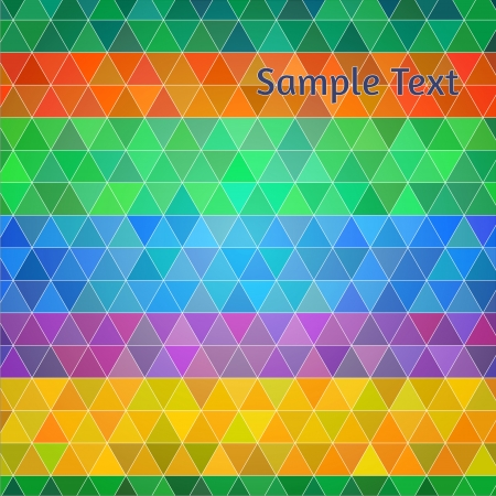 Abstract vector background. Colorful triangles in random stripy order, polygon style illustration for your design Stock Vector - 22199455