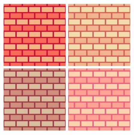 Brickwork vector seamless pattern collection