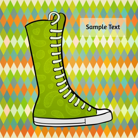 Abstract polygon flat design background with graphic patterned high gumshoes. Vector
