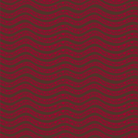 Ethnic wavy hand drawn vector seamless pattern Vector
