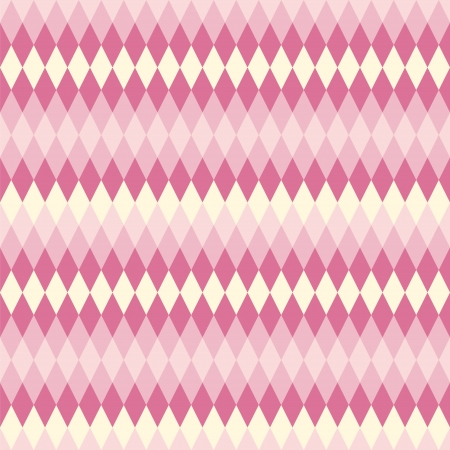 tints: Abstract seamless pattern. Creamy and violet rhombs of blending tints.
