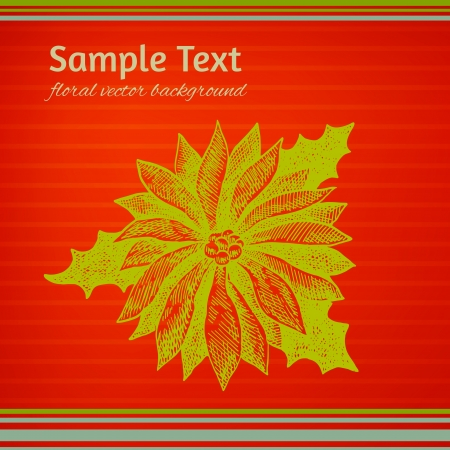 winterberry: Colorful red and green Christmas winterberry illustration Illustration