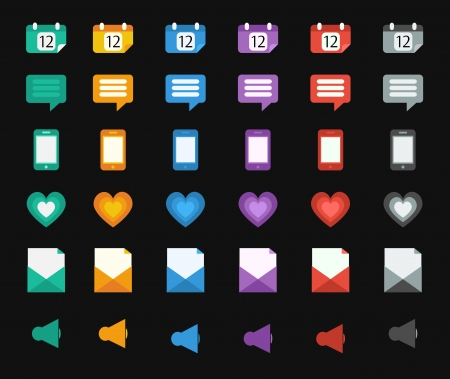 Set of vector flat design icons Vector
