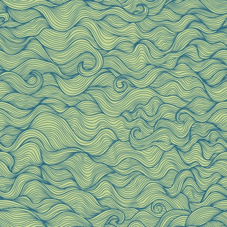 Abstract doodle wavy vector seamless pattern Vector