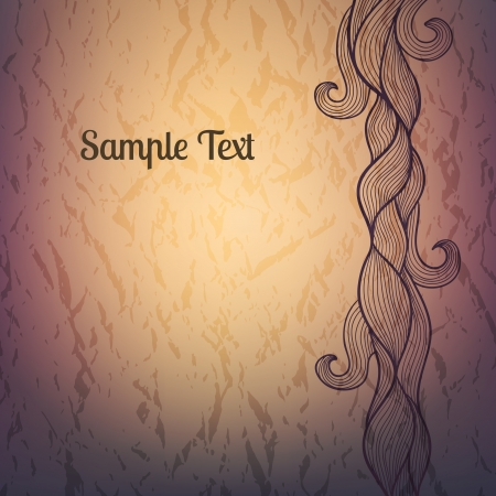 vellum: Abstract textured vector background with doodle decorative element. RGB color mode
