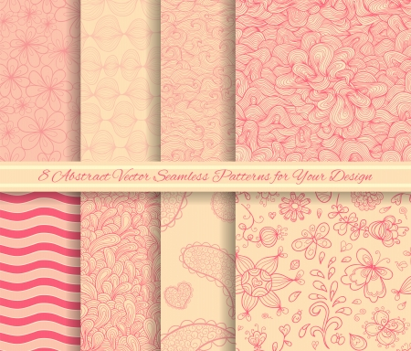 Set of vector seamless patterns for Your design Vector