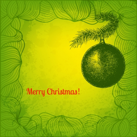 Fir tree Christmas decoration. Vector illustration for Your design Vector