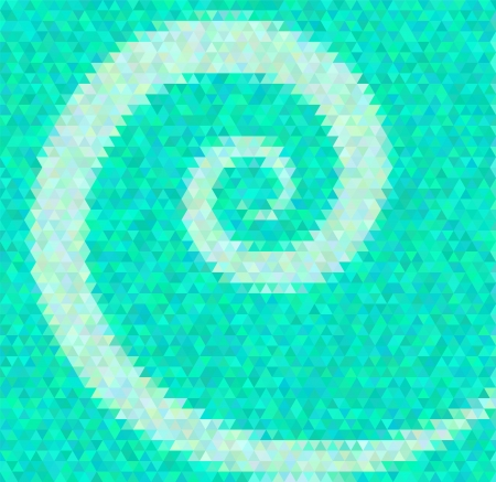 inlay: Abstract vector background. Polygin style inlay. Spiral. Contains Adobe Illustrators Clipping Mask Illustration