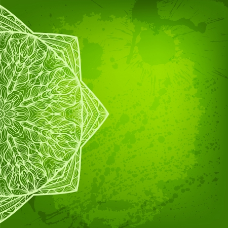adobe: Colorful green arabesque background. Contains Adobe Illustrators Clipping Mask Illustration