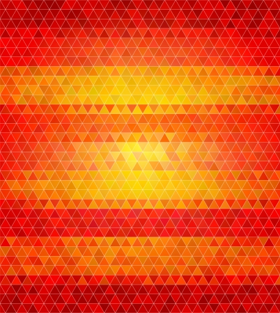 tints: Abstract flat style polygon background. Varied tints of fire