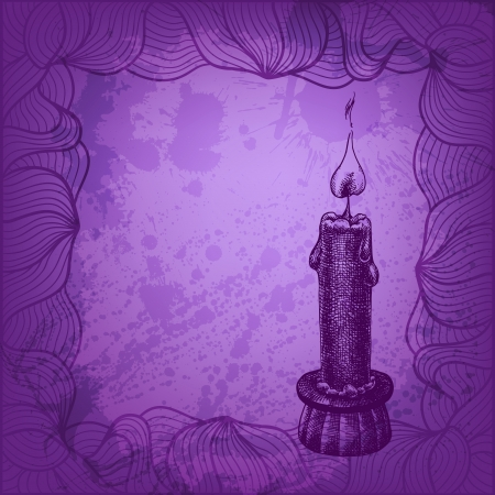 Vector candle illustration for Your design Vector