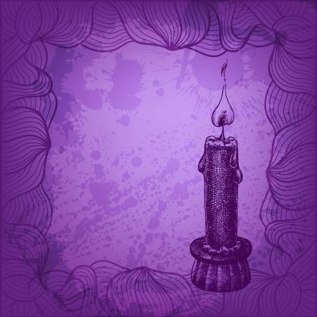 candleholder: Vector candle illustration for Your design Illustration