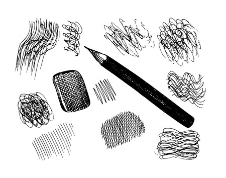 clerical: Vector pencil and scribbles. Sketch collection Illustration