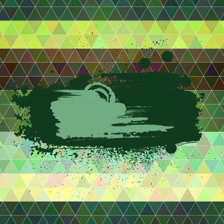 tints: Abstract vector background. Polygon style backdrop with an artistic paint banners. Retro tints