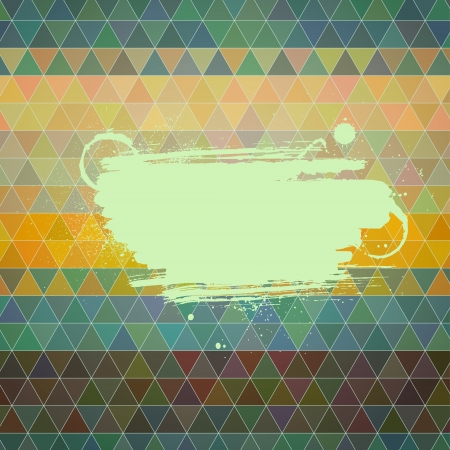 tints: Abstract vector background. Polygon style card with an artistic paint banner. Retro tints.