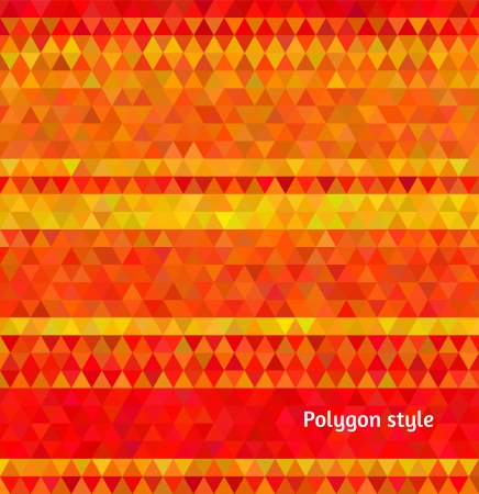 tints: Abstract vector background. Polygon mosaic style. Hot yellow and red energetic tints. Illustration